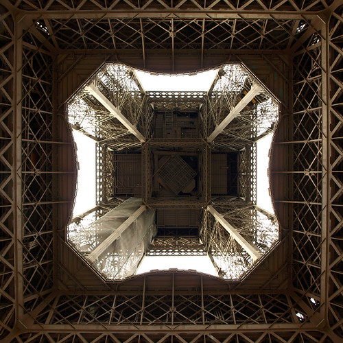 The View From Below The Eiffel Tower, Paris