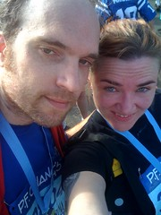 We did it! Sprinted the finish and everything!