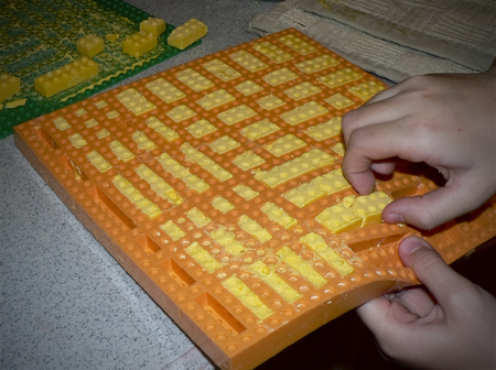 candy melts lego mold