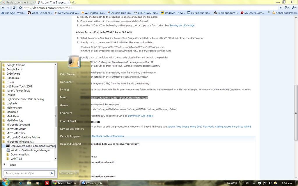 How to make Acronis Bootable Mdia - TI Home 2010 Plus Pack | Acronis