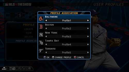 MLB 10: The Show Profile Association