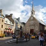 Québec: La place Royale et l'église Notre-Dame-des-Victoires