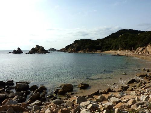 La Cala Sciumara : l'îlôt et les chenaux