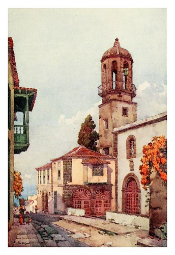 026-Iglesia de Santo Domingo en la villa de la Orotava-The Canary Islands (1911) -Ella Du Cane