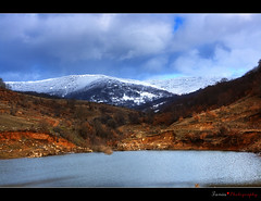 Dam in Mela Florinas :: HDR (ktania) Tags: blue mountain snow fleurs canon raw dam et soe paysages hdr watter cubism florina coth supershot bej 400d abigfave flickraward ysplix goldstaraward rubyphotographer coth5