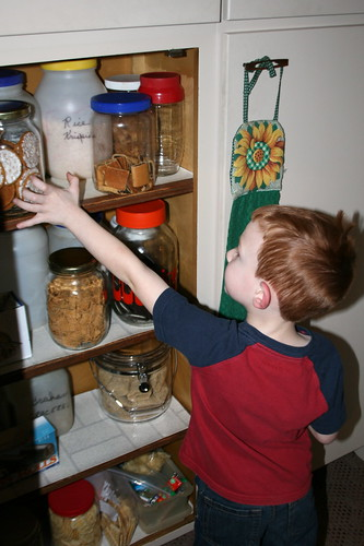 Caught with his hand in the cookie jar