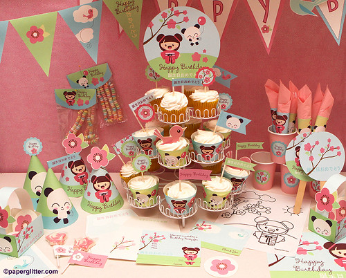 girls birthday party decoration ideas. hats favor decoration girl