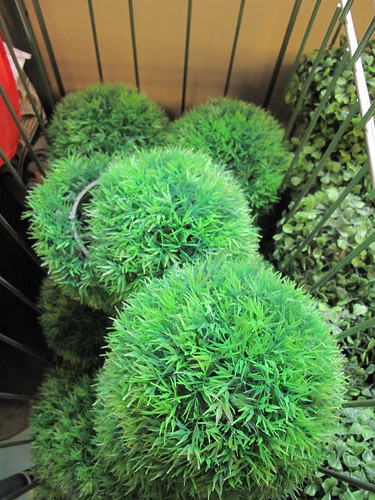 faux topiary balls