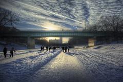 River Walk (bryanscott) Tags: bridge winter snow canada ice river winnipeg rail manitoba jhh13