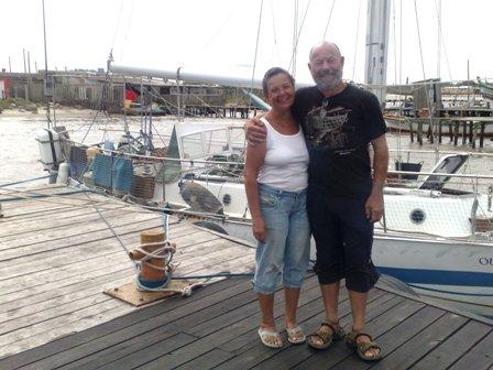 Werner e Anne estão desde dezembro em Rio Grande. Crédito: Thaís Abrão