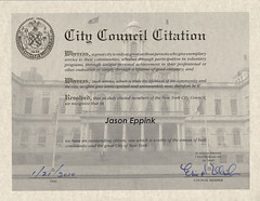 City Council Citation (jasoneppink) Tags: me hahahaha outstandingcitizen uniquepersonalachivement citycouncilcitation exemplaryservice lifetimeofgoodcitizenry