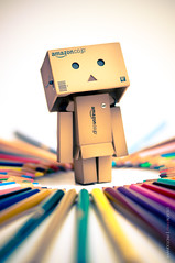 Color World [Explored] (Steven Pham | stevenphamphoto.com) Tags: world color cute pencil toy amazon nikon triangle little box live we figure colored danbo d90 explored revoltech danboard