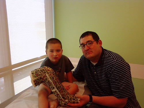 Dad and Mason with his cast removed