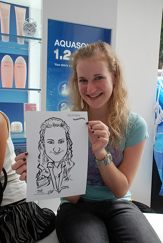 Caricature live sketching for Biotherm Roadshow Loreal - 13