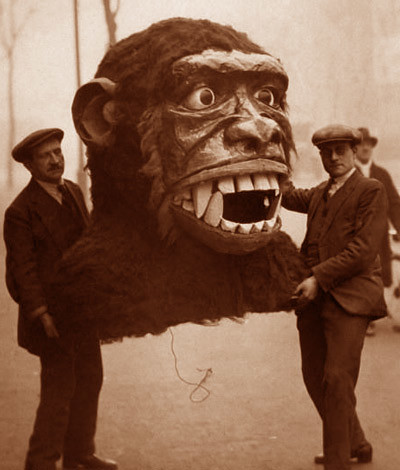 Giant Gorilla Head