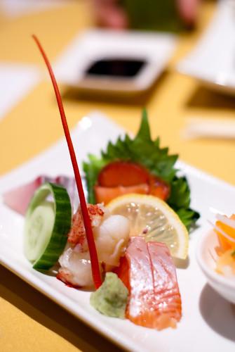 Sashimi - Amberjack, Lobster, Salmon