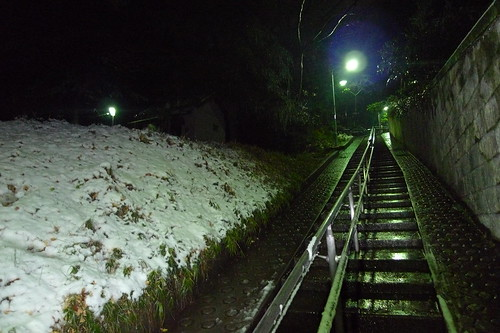 The stairs back to Wakeijuku