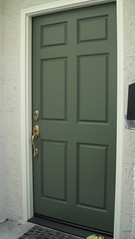 New Door- Stucco Repair & Complete Paint