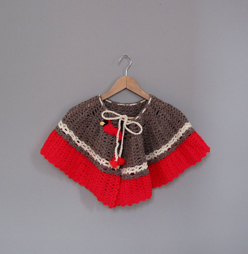 vtg sweater cape