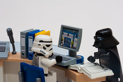 Paperwork (Sad Old Biker) Tags: uk light wallpaper england storm trooper macro brick film work canon computer paper movie print poster geotagged toy photography death star photo office starwars pc chair funny europe kevin force lego photos desk lol joke luke books mini humour monitor sabre galaxy card photograph darth laugh jedi files stormtrooper imperial parody spoof wars vader wtf clone lmao figures greeting filing sith anthropomorphism paperwork anthropomorphic tk421 lampoon humourous minifigures poulton sendup kevinpoulton sadoldbiker
