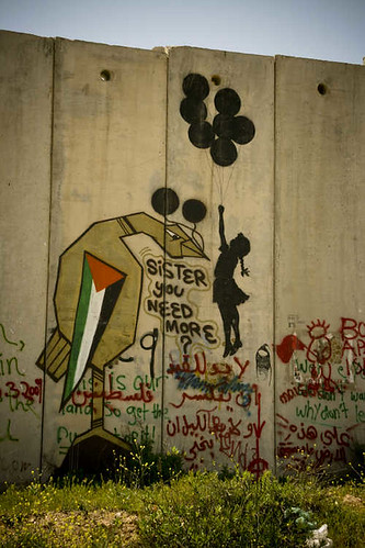 From flickr.com: The barrier -graffiti painted - West Bank - Palestine {MID-71984}