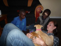 Justine with Josie and Winnie (flyingkitesglobal) Tags: mountains home children flying kenya center kites orphan academy orphaned aberdare childrens kinangop njabini