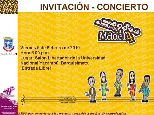 Madera4 en concierto