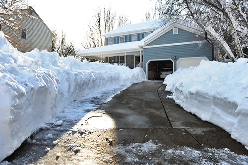 大卫的家下雪