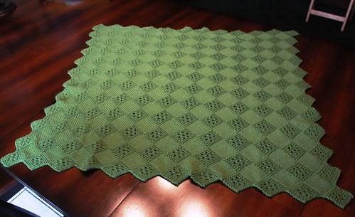 Eyelet Square Blanket 001