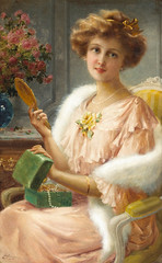 "Emile Vernon (1872-1919), ""A young lady with a mirror"" (sofi01) Tags: art lady female painting fineart oilpainting britishartist emilevernon"