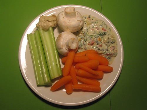 Veggies and dip from the bistro - free