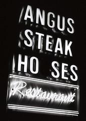 Angus Steak Hoses (Jon Smalldon) Tags: houses west london film sign nikon kodak angus tmax f65 steak end 3200 tmz tmz3200
