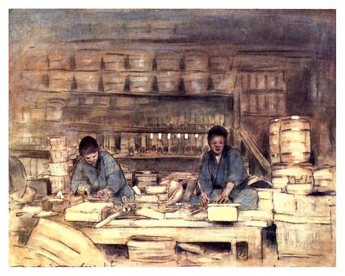 004-Carpinteros trabajando-Japan  a record in color-1904- Mortimer Menpes