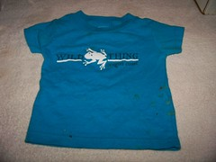 How to make a pet shirt from a baby shirt 1