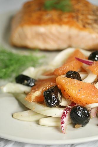 Cara Cara Orange, Fennel and Olive Salad