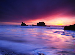evening splasha (louie imaging) Tags: ocean sf morning light sunset usa sun color colors america dawn evening san francisco rocks waves play pacific dusk valentine romance romantic splash fusion simple primary valentinesday romantique magicunicornverybest