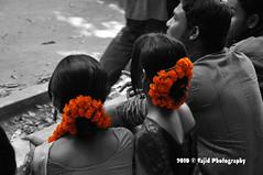 Color of the festival (.::Sajid Photography::.) Tags: street girls flower color colors festival spring women culture celebration dhaka tradition bangladesh cultural bangla bengali universityofdhaka