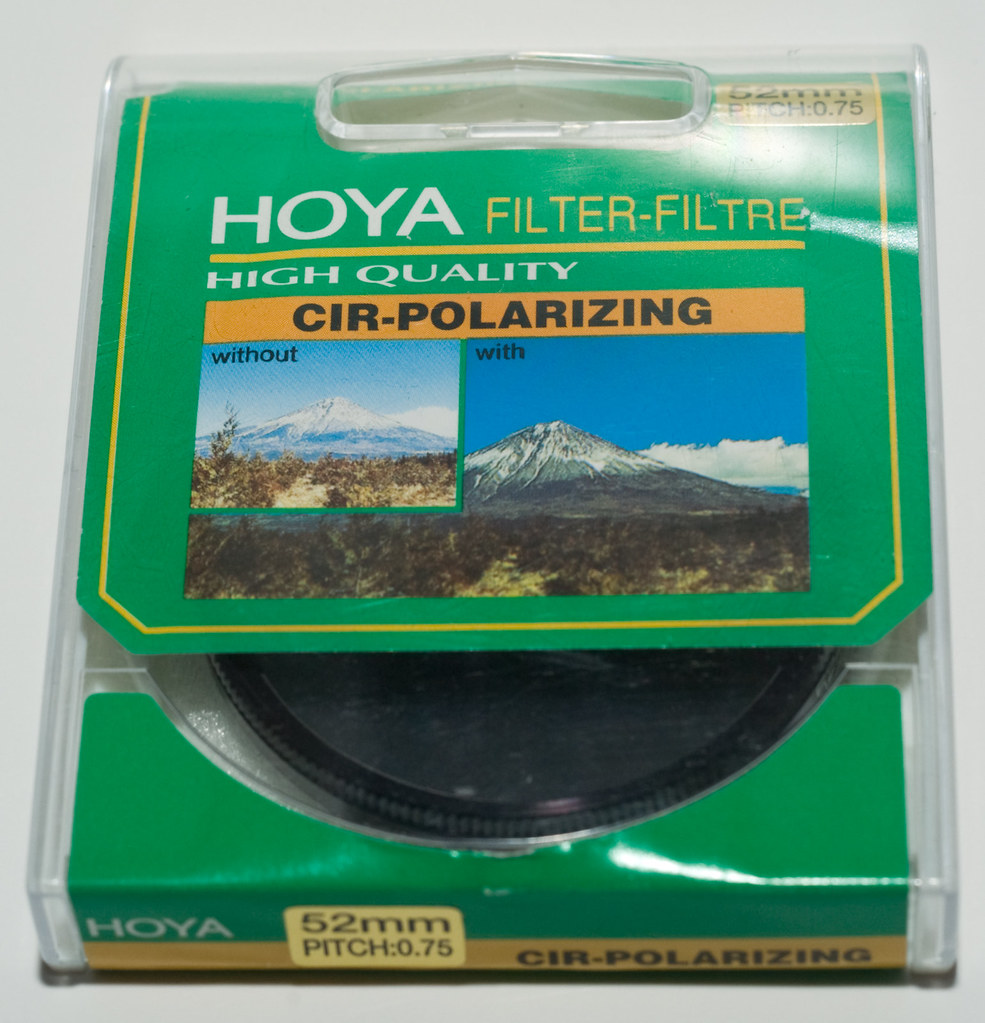 Hoya 52mm CPL filter.