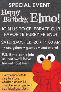 Happy Birthday Elmo Event at Borders