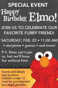 Happy Birthday Elmo Event at Borders