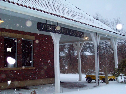 The old railroad station in Orchard Park