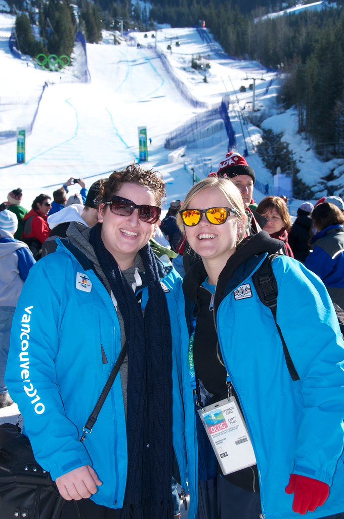 Diane and Dorothy at Women's Super G at Whistler Creekside