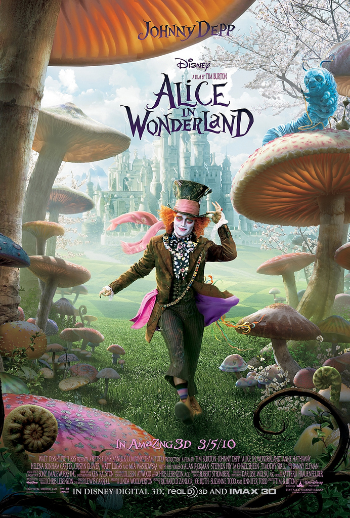 Alice in Wonderland 2010 the mad hatter movie poster