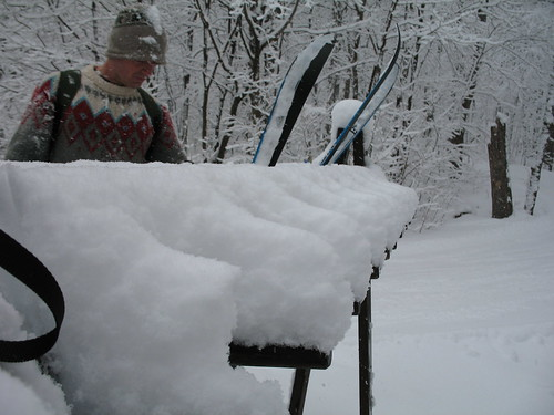 Ski rack at Western