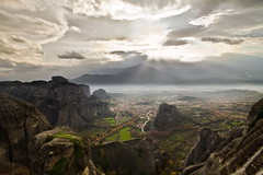 Kastraki with misty background (NickChino) Tags: scenery scenic greece meteora trikala kastraki     kalanbaka