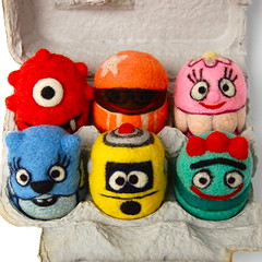 Yo Gabba Gabba Egg toys (asherjasper) Tags: kids children toys colorful eggs monsters eggcarton yogabbagabba