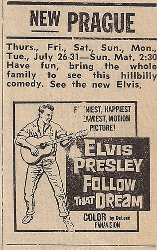 08/62 Elvis Follow That Dream (Prague Theatre, New Prague, MN)