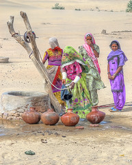 Thar Where Water = Life. (Commoner28th) Tags: life pakistan people woman india sahara water wheel sand women colorful dress desert culture desi colourful ahmed sind sindh thar rajasthan wel agha mirpurkhas waseem cholistan umerkot commoner28th flickraward mygearandmepremium mygearandmebronze