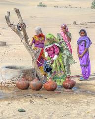 "Thar Where Water = Life. (Commoner28th) Tags: life pakistan people woman india sahara water wheel sand women colorful dress desert culture desi colourful ahmed sind sindh indus thar rajasthan wel ivc agha mirpurkhas waseem cholistan umerkot indusvalley indusvalleycivilization commoner28th ""flickraward"" mygearandmepremium mygearandmebronze"