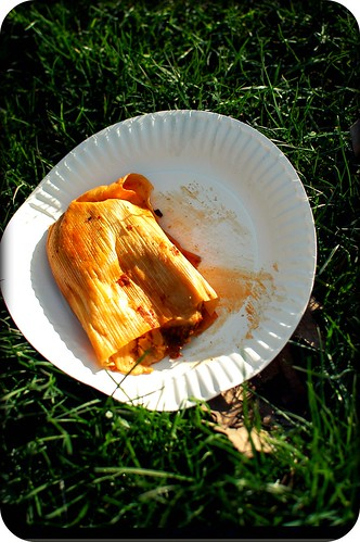 tamale on the grass
